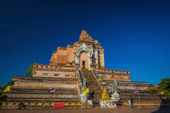Wat Chedi Luang Temple in Chiang Mai Royalty Free Stock Image