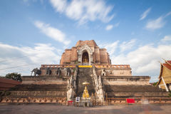 Wat Chedi Luang Temple at Chiang mai, Thailand Stock Images