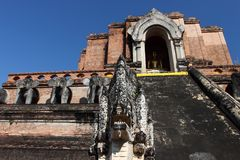 Wat Chedi Luang temple in Chiang Mai, Thailand Stock Photos