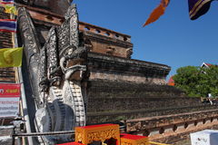 Wat Chedi Luang temple in Chiang Mai, Thailand Royalty Free Stock Photos