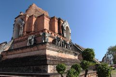 Wat Chedi Luang temple in Chiang Mai, Thailand Royalty Free Stock Images