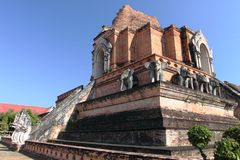 Wat Chedi Luang temple in Chiang Mai, Thailand Stock Image