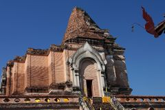 Wat Chedi Luang temple in Chiang Mai, Thailand Royalty Free Stock Image