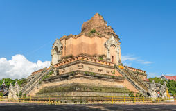Wat Chedi Luang temple in Chiang Mai, Thailand Royalty Free Stock Photo