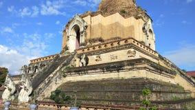 Wat Chedi Luang Temple at Chiang mai, Thailand.  stock video