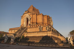 Wat Chedi Luang temple Royalty Free Stock Photography