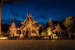 Wat Chedi Luang temple at sunset Stock Photo
