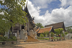 Wat Chedi Luang, temple in Thailand Royalty Free Stock Photography