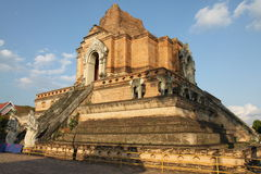 Wat Chedi Luang Temple in Thailand Royalty Free Stock Photo