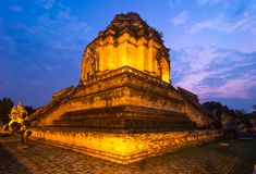 Wat Chedi Luang temple, Thailand Stock Photography