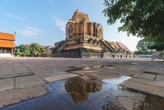 Free Wat Chedi Luang Temple Which With A Large Pagoda And Big Golden Buddha In The Chiang Mai, Thailand Royalty Free Stock Photography - 164407177