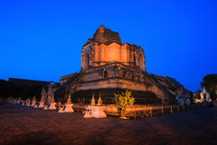 Wat Chedi Luang in Thailand Royalty Free Stock Images