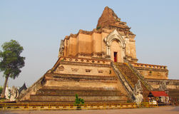 Wat Chedi Luang in Thailand Royalty Free Stock Photography
