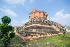 Wat Chedi Luang, um templo budista no centro histórico de Chiang Mai, Tailândia Foto de Stock Royalty Free