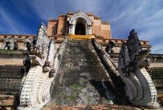 Wat Chedi Luang, vecchio tempiale in Chiang Mai Fotografie Stock