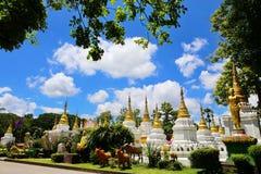 Wat Chedi Sao Lampang, Thailand Royaltyfria Foton