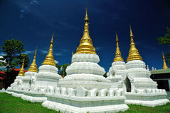 Wat Chedi Sao Temple Royalty Free Stock Images
