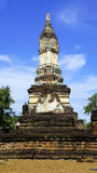Wat chedi seven rows temple pagoda approach Royalty Free Stock Photography