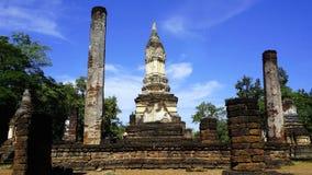 Wat chedi seven rows temple pagoda ruins landscape Stock Photos
