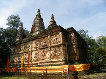 Wat chedyod tempel Royalty-vrije Stock Fotografie