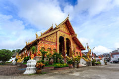 Wat Chet Yod temple in Thailand Royalty Free Stock Photography