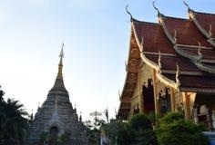 Wat Chetawan en la puesta del sol Fotografía de archivo