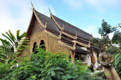 Temple at Wat Chiang Man Stock Photo