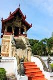 Wat Chiang Man buddistisk tempel, Chiang Mai Royaltyfri Fotografi