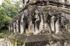 Wat Chiang Man byggdes i 1297 som templet för Chiang Mai ` s första på Royaltyfri Fotografi