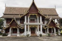 Wat Chiang Man byggdes i 1297 som templet för Chiang Mai ` s första på Arkivfoto