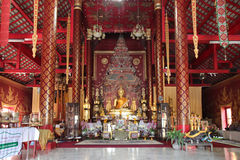 Wat Chiang Man - Chiang Mai - Thailand Arkivbilder