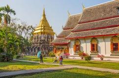 Wat Chiang Man Temple Chiang Mai, Thailand, den äldsta templet i Chiang Mai Arkivbilder