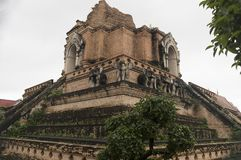Wat Chiang Man was built by Mangrai[1]:209 in 1297 CE as the fir Stock Photography