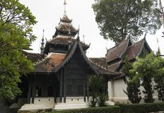 Wat Chiang Man werd gebouwd door Mangrai [1]: 209 in Ce van 1297 als spar Royalty-vrije Stock Afbeelding