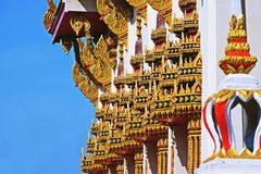 Wat Chom Phothayaram, Sothon, distretto di Mueang Chachoengsao, Tailandia 4 novembre 2018 Thot Kathin in tempio di chedi della Ta immagini stock libere da diritti