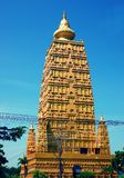 Wat Chom Phothayaram, Sothon, het District van Mueang Chachoengsao, Thailand 4 november 2018 Thot Kathin in cheditempel van Thail stock afbeelding