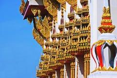 Wat Chom Phothayaram Sothon, Mueang Chachoengsao område, Thailand 4 november 2018 Thot Kathin i Thailand cheditempel royaltyfria bilder