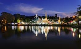 Wat Chong Kham στο γιο Ταϊλάνδη της Mae Hong στοκ φωτογραφίες