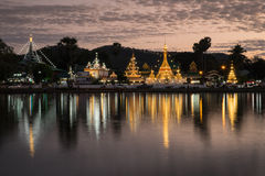Wat Chong Kham e Wat Chong Klang Temples Fotografia Stock