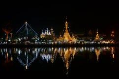 Wat Chong Kham the temple in Mae Hong Son Royalty Free Stock Photos