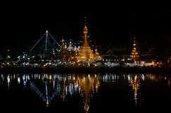 Wat Chong Kham the temple in Mae Hong Son Stock Photo