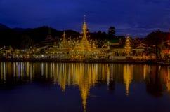 Wat Chong Kham, in Mae Hong Son, Thailand. Wat Chong Kham, Twilight Beautiful architecture in Mae Hong Son, Thailand Royalty Free Stock Photo