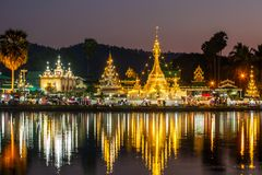 Wat Chong Klang and Wat Chong Kham Royalty Free Stock Photo