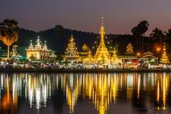 Wat Chong Klang and Wat Chong Kham Royalty Free Stock Photo