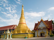 Wat Chumpon Khiri in Mae Sot, Thailand. Wat Chumphon Khiri, a Burmese style Buddhist temple in Mae Sot, Thailand. The stupa in the photo is a copy of the stock photos