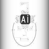 Wat is de kunstmatige intelligentie? Stock Afbeelding