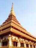 Wat de la pagoda tailandés Fotos de archivo