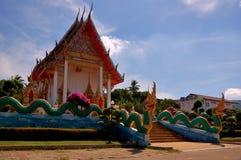 wat de la Thaïlande de temple de phuket d'île de chalong Image stock