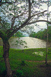 wat de lac d'angkor Photographie stock