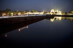 wat de nuit d'angkor Photographie stock